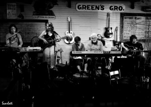 Performing with Michael McDonald at Green's Grocery.