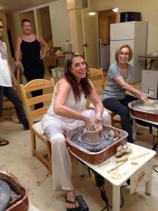 BNC & Carol Scibelli torturing clay!