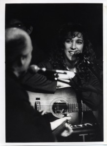 Performing with Hugh Prestwood at the Bluebird Cafe 1996