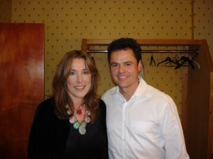 BNC backstage with Donny Osmond at our show for BBC Radio Friday Night is Music Night (2002?)