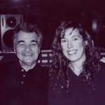 """In the studio with John Prine who sang a harmony on """"Every December Sky"""".  What a thrill!"""