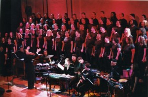 Performing at Town Hall with Michael Brown's amazing choir