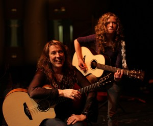 Myself and Ruth showing off our Faith Guitars!