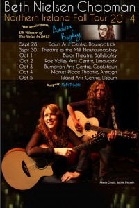 Here's the poster for the NI dates of the tour with Andrea Begley guesting!