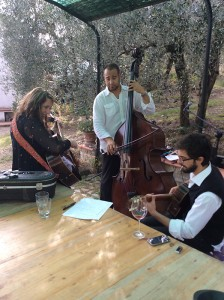 Practicing with the Fab Italian Musicians!