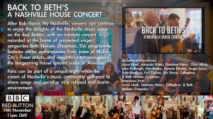 """""""Back To Beth's"""" featured on BBC Four RED BUTTON following """"Bob Harris' Nashville"""" on November 14th!"""