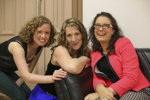 Backstage just before the show with Ruth and Andrea
