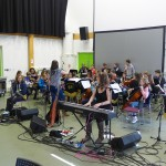 Rehearsing with the Student Orchestra in Daventry
