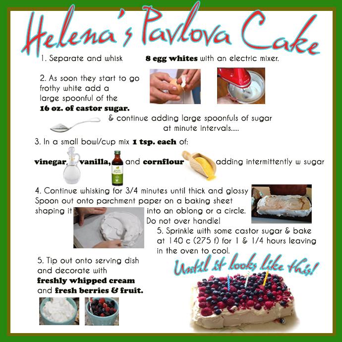 Helena's Pavlova Cake