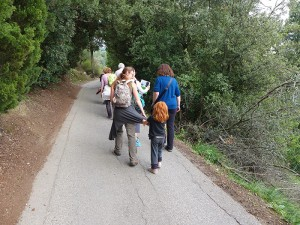 Hiking with our fab guide Francesca and her redheaded sweet daughter Livia!