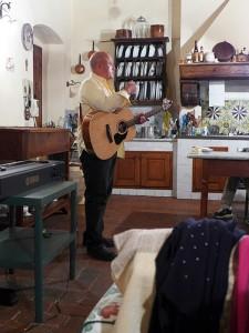 Phil prepares to sing!