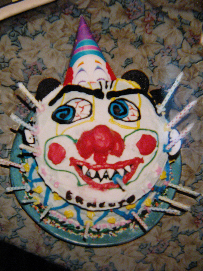 Scarey Clown Cake