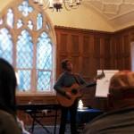Jonatha performs during her teaching.