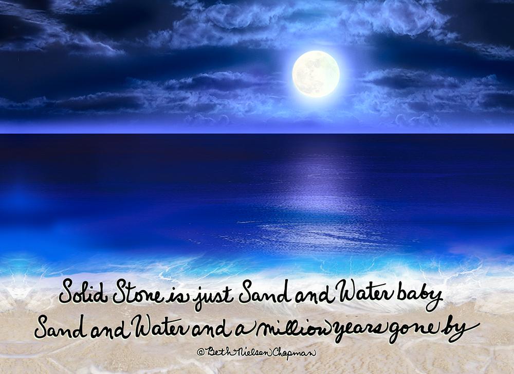Sand & Water Moonlight Ocean Painting