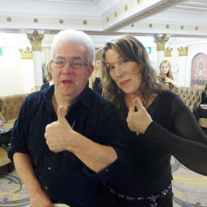 Myself and Ian McMillan thumbs up!