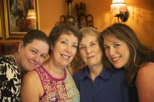 Beverly, Barbara, Mom and me.  Youngest sister Lola and brother Bob missing!