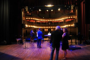 Sound check for show with Jim Brickman and Bill Champlin in Mississippi