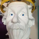 Einstein with tambourine.