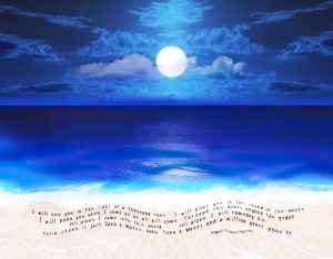 """Sand & Water"" lyric. This song has been re-recorded on the upcoming ""Liv On"" CD with Amy Sky and Olivia Newton-John."
