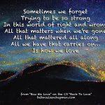 How we love lyric.wb