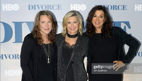 Appearing at the Divorce premiere in LA