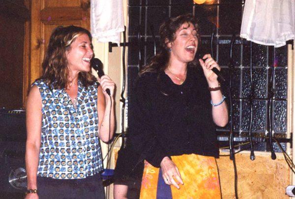 "Singing Karoke ""This Kiss"" in a pub in Kilkenny Ireland."