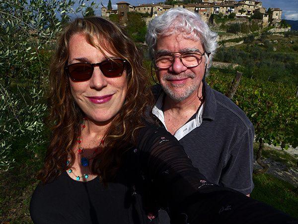 Me and my husband Bob having fun in the Tuscan sun.
