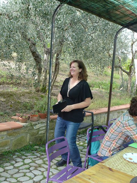 Our Tuscan fairy Godmother Lydia (Leeeedia!)