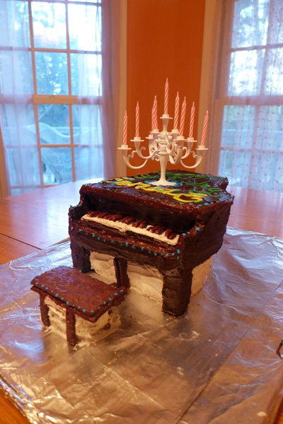 Ernest's Piano Cake happy birthday at 34!