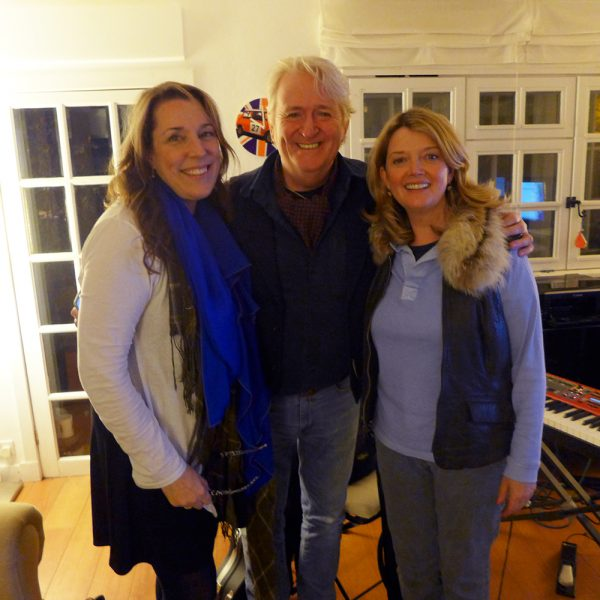 Recording in North Berwick Scotland with Sir Phil Cunningham and Fiona Kennedy