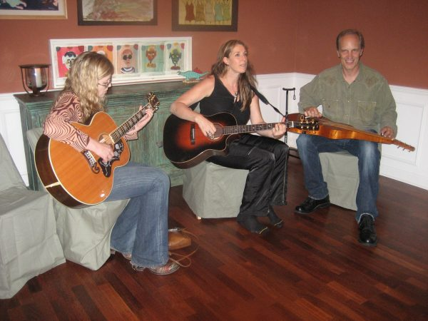 Performing at a dinner in the home of Steve Fishell & friends!