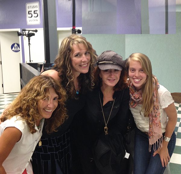 Hanging out on the west coast w Annie Roboff, Bonnie Raitt, and my cousin Mary Nielsen!