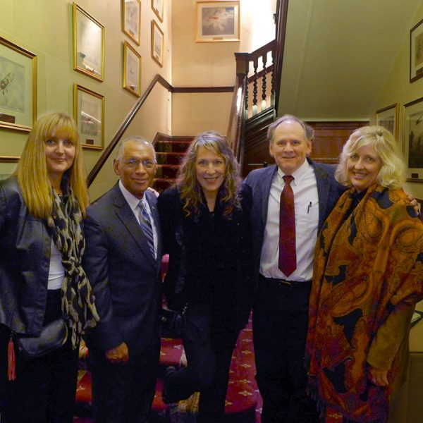 Trudie Myerscough-Harris, NASA Admin. Charlie Bolden, BNC, Rocky Alvey, & Lynn Maddox in London, .