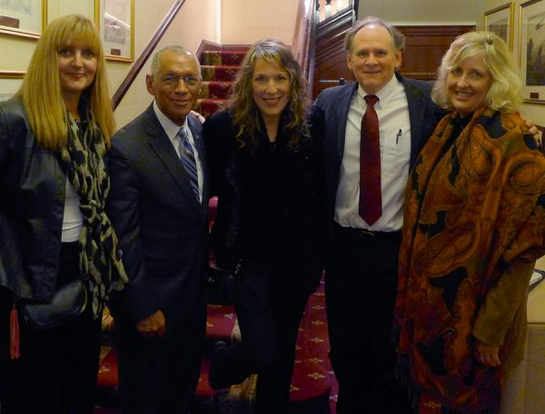 Trudie Myerscough-Harris, NASA Admin. Charlie Bolden, BNC, Rocky Alvey, & Lynn Maddox in London.