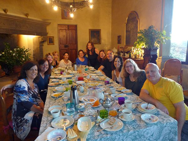 Tuscany Heaven! The Villa provided numerous calories!