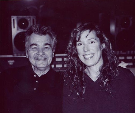 "In the studio with John Prine who sang a harmony on ""Every December Sky"". What a thrill!"