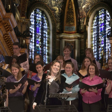 Performing at St. Paul's Cathedral with the London Orianna Choir