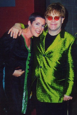 Seeing Elton again backstage not long after my treatments for breast cancer~early 2001.